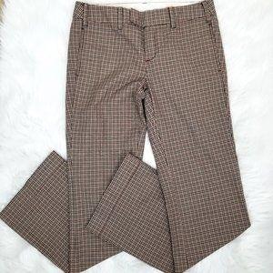 Paper Boy Plaid Flat Front Career Pants NEW